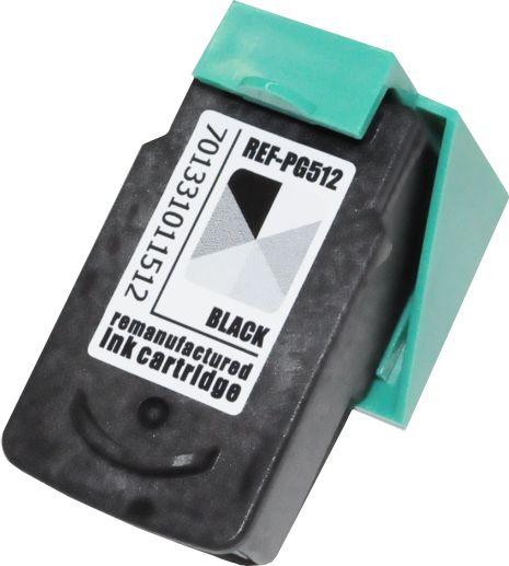 Kompatible Tinte ERSETZT PG-512 black