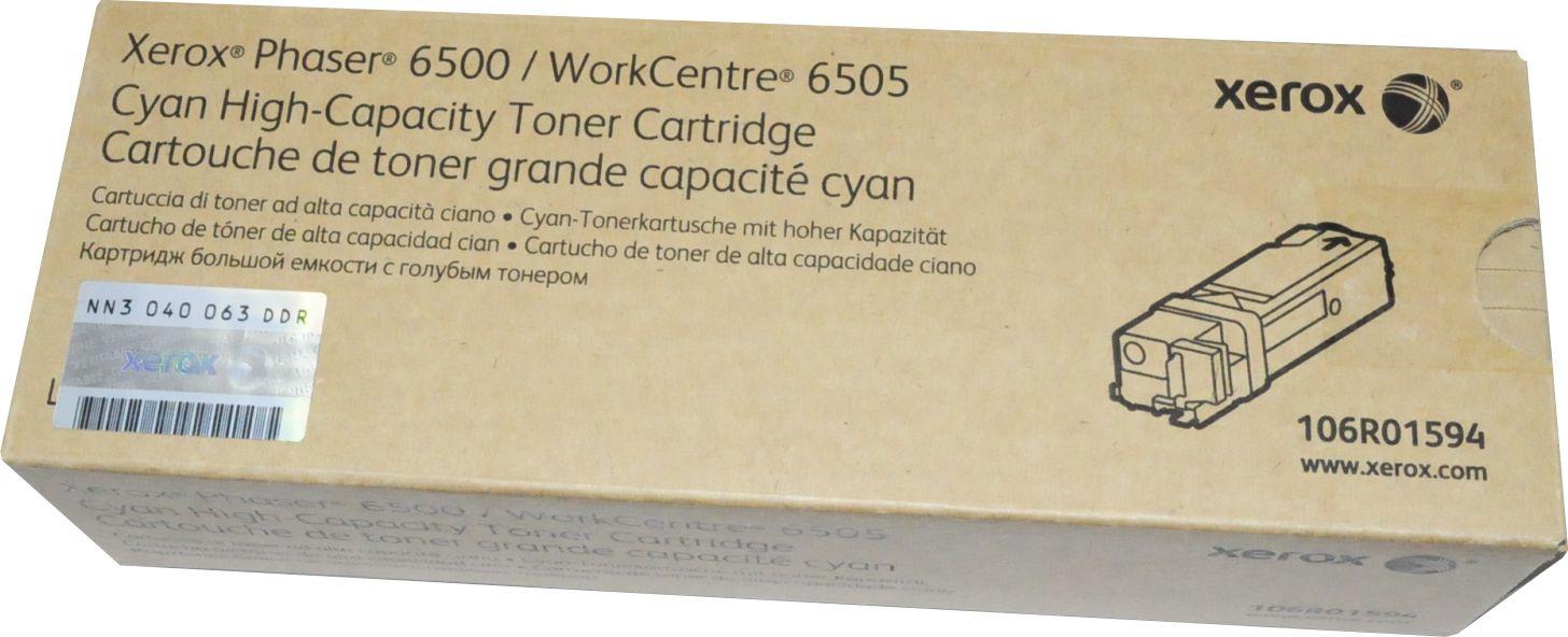 Original XEROX 106R01594 Tonerkartusche cyan ca. 2500 Seiten