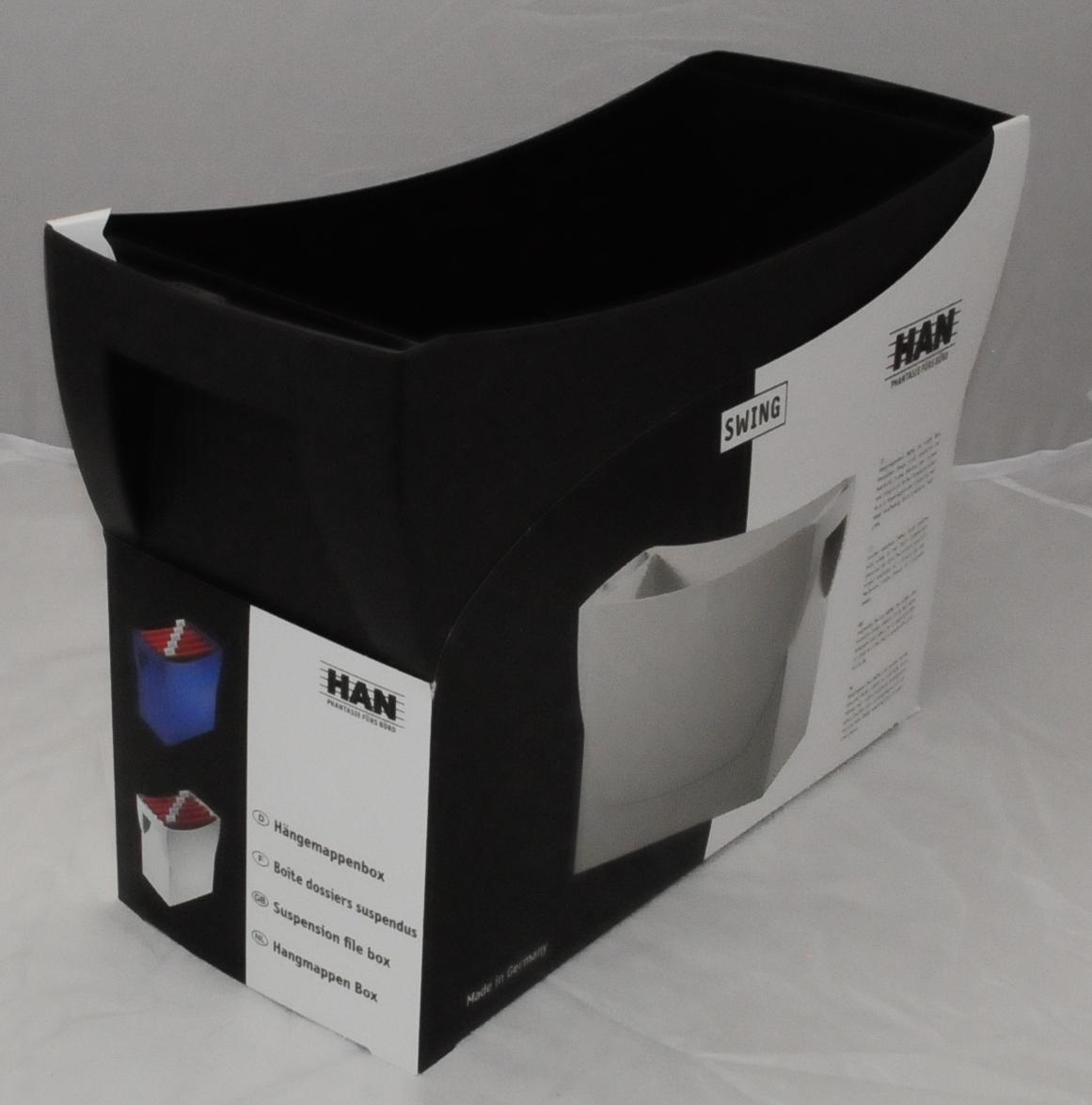 Aktion: schwarze Hängeregister-Box für ca. 20 Hängehefter 39x26x15cm ohne Inhalt