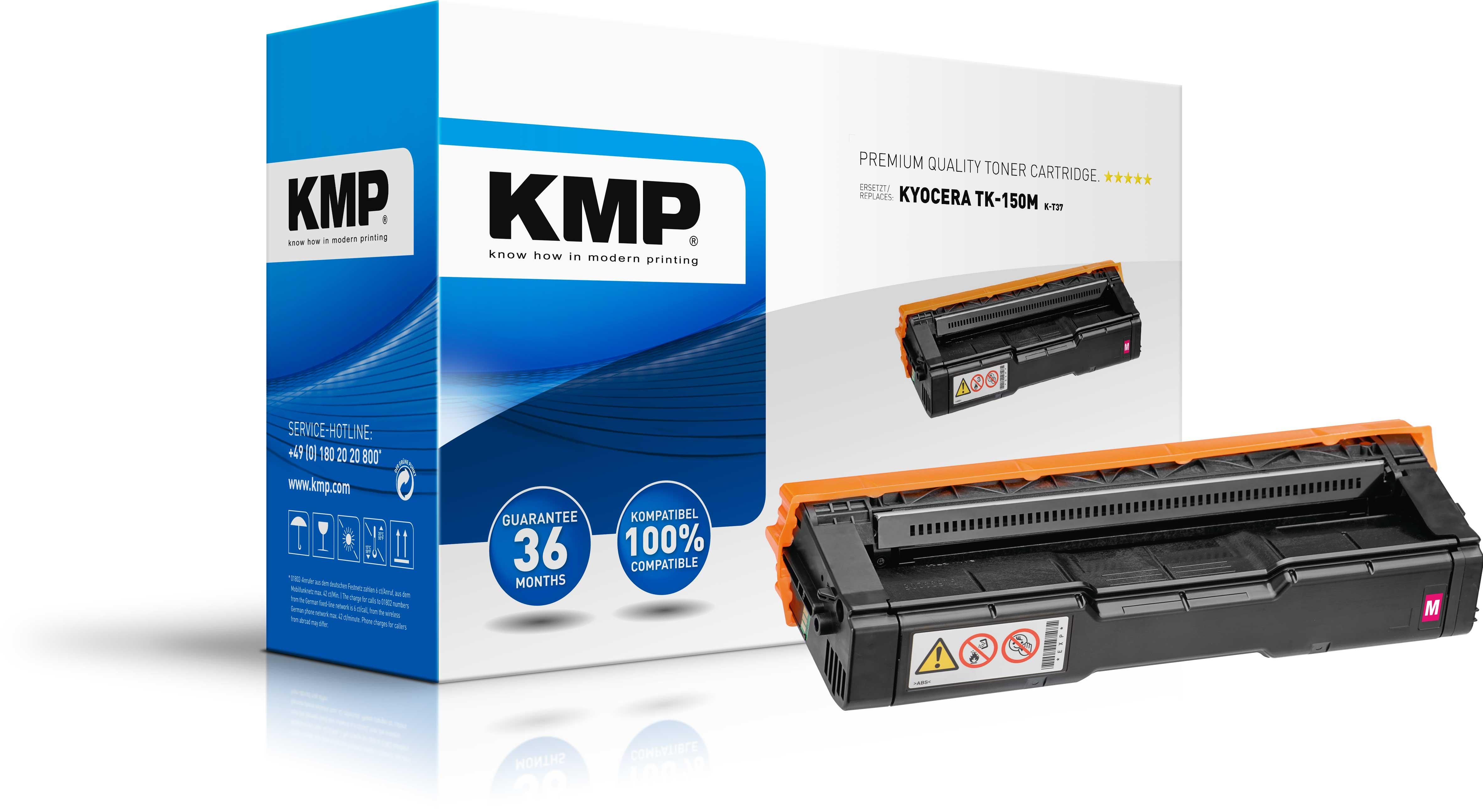KMP K-T37 Toner ERSETZT Kyocera TK-150M / 1T05JKBNL0 magenta