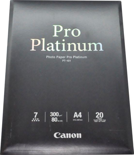 Canon PT-101 Fotopapier Pro Platinum 300g/qm 20 Blatt DIN A4 Druckerzubehör