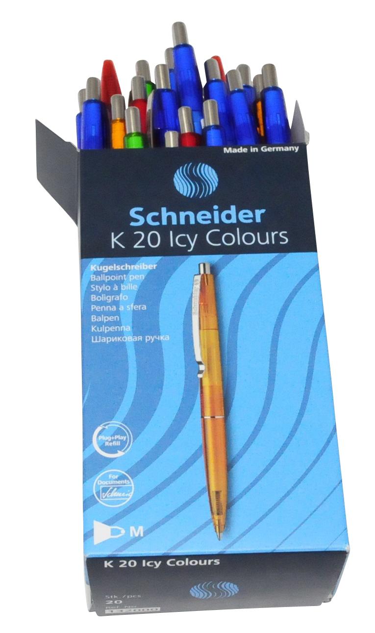 20 Schneider K20 Icy Colours Kugelschreiber farbs. dokumentenecht Kuli 132000