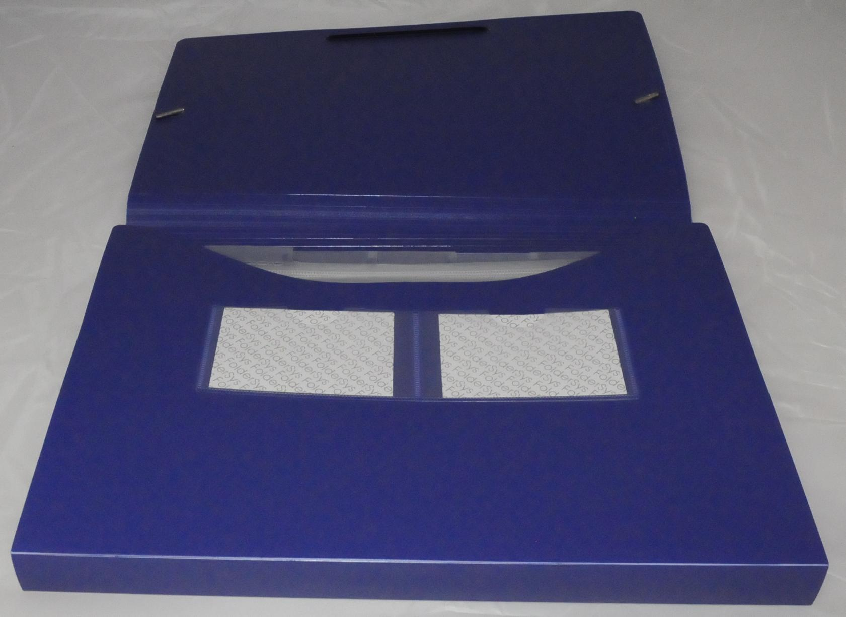 Sortiermappe A4 blau 5 Fächer mit Eckspanngummi Dokumentenmappe Fächertasche