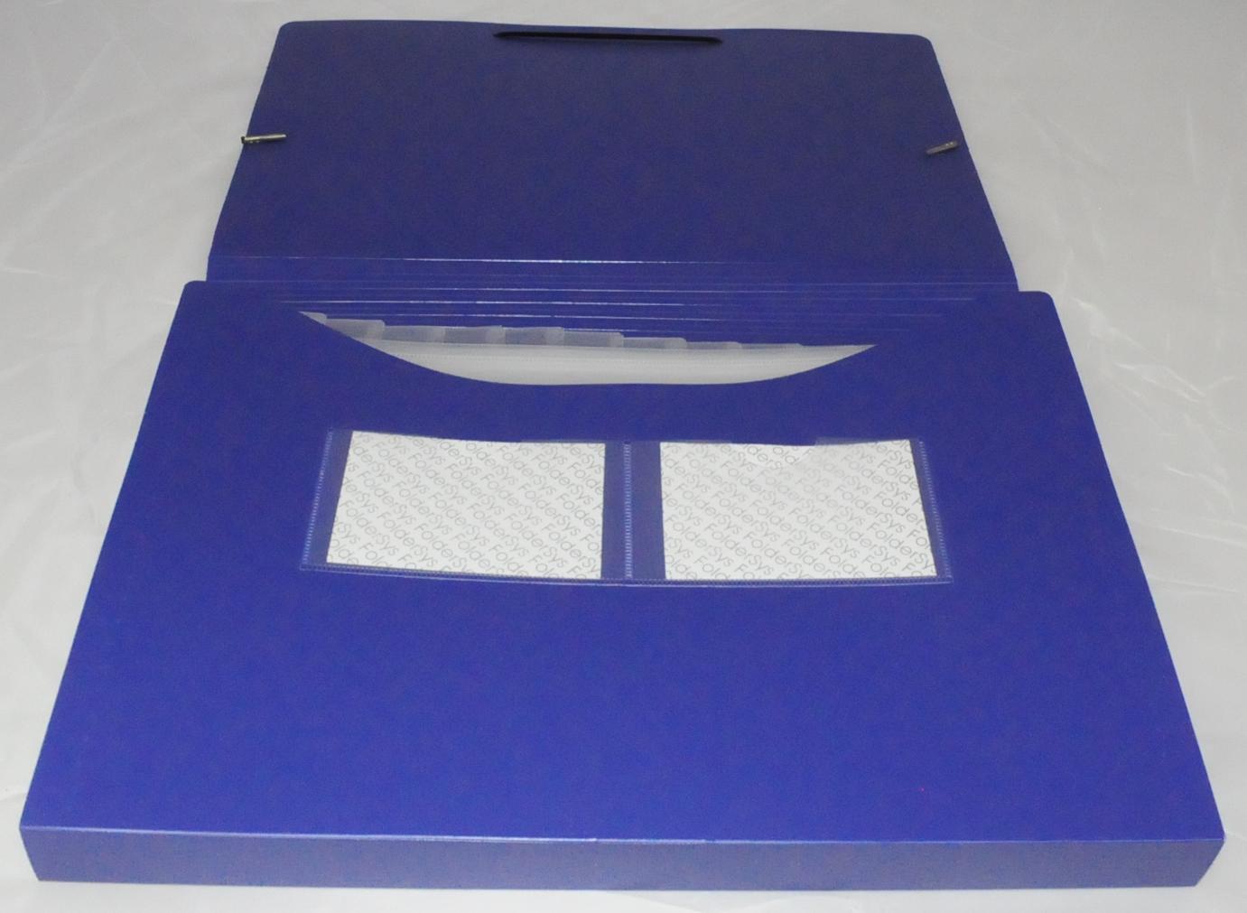 Sortiermappe A4 blau 12 Fächer mit Eckspanngummi