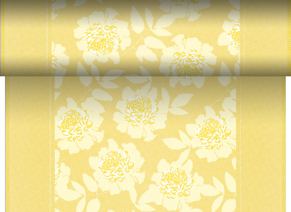0,92€/1m Tischläufer gelb Tischband Rolle 24m x 40cm Party Deko PV-Tissue Adele